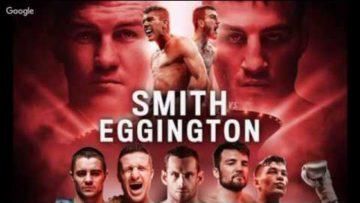 SAM EGGINGTON VS LIAM SMITH LIVE AUDIO Commentary no footage